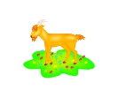 Animal Goat Vector Free Clipart