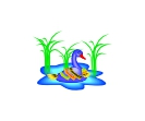 Bird Duck Blue Vector Free Clipart