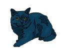 Cat Black Standing Animal Vector Clipart