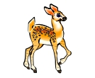 Deer Fawn Animals Vector Clipart
