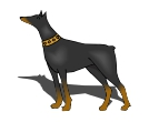 Dog Doberman Pinscher Animal Vector Clipart