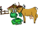 Goat Eating Animal Vector Clipart