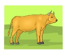 Green Cow Animal Vector Clipart