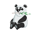 Panda Animal Standing Vector Clipart