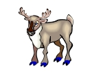 Reindeer Animals Vector Clipart