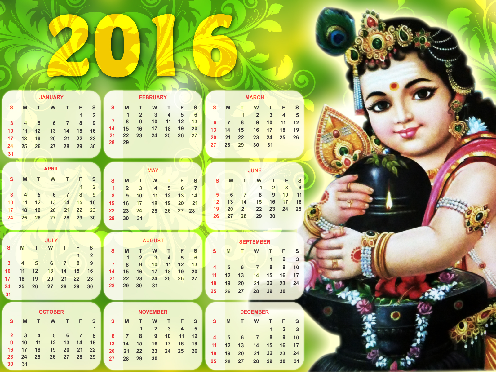Pin Download Hd Images Of Calendar 2017 For Computer Screen on ...