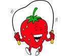 Cartoon Cherry Playing Vector Free Clipart