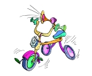 Cartoon Cycle Vector Free Clipart