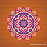 Free colorful rangoli