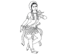 Indian Dance Vector Cliparts