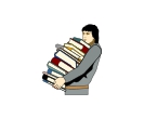Education Man Books Free Vector Clipart
