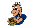 Food Burger Eat Man Free Clip Art