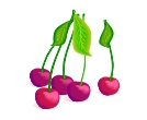 Blue Cherry Vector Clipart