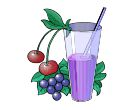 Cherry Juice Vector Cliparts
