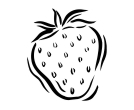 Strawberry Drawing Vector Cliparts