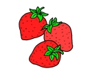 Three Strawberry Vector Cliparts