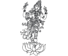 Indian Hindu God Lord Booma Devi Drawing Vector Cl