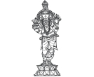 Indian Hindu God Lord Kumbam Sakthi Amman Drawing