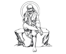 Indian Hindu God Lord Setting Shirdi Sai Baba Draw