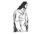 Jesus Christ Standing God Vector Clipart
