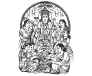 Lord Narayanan Indian God Vector Clipart