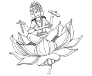 Lotus Brahma  Indian God Vector Clipart