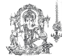 black and white ganesha images