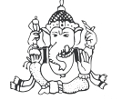 Viganeshwara Indian 9 God Vector Clipart