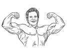 Bodybuilder Free Vector Clipart