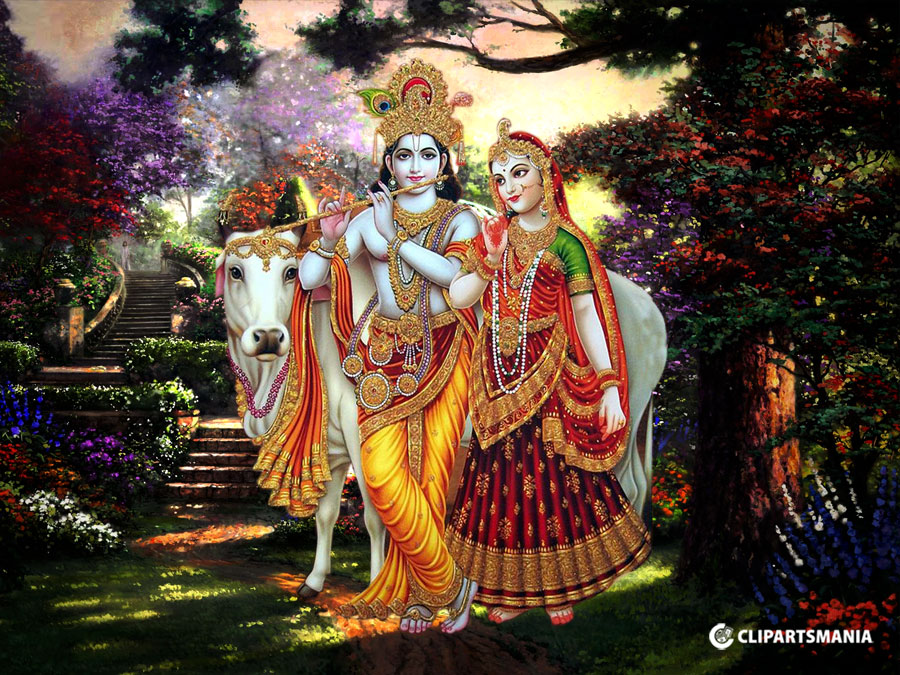 Radha Krishna With Cow Images Hd The Galleries Of Hd Wallpaper