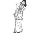Indian Women Lady Vector Cliparts