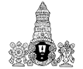 Tirupati balaji silhouette indian god vector clipart