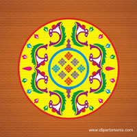 Free color rangoli